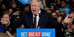 Brexit : discours du Premier ministre britannique Boris Johnson, le 10 décembre 2019, en pleine campagne des élections législatives anticipées