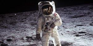 Buzz Aldrin, Lune, conquête, homme, espace, spatial, Nasa, Apollo, Etats-Unis,