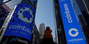 Coinbase valorisee pres de 100 milliards de dollars pour ses debuts en bourse