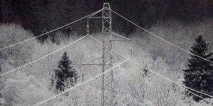 EDF, 6Mo, RTE, électrique, électricité, pylone, hiver, neige, froid, intempéries, météo, fourniture, énergie