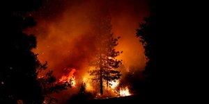 incendie, Oregon, Etats-Unis