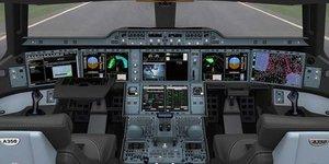 Le cockpit de l'A350