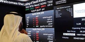 Le Tadawul, indice de référence de la Bourse saoudienne, la plus importante de la région et l'une des 10 plus grandes au monde.