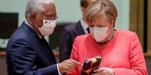 Merkel espere un accord a bruxelles comme cadeau d'anniversaire