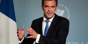 Olivier VEran, ministre de la SantE, lors d& 39 une dEclaration A la presse, le 20 mai 2020
