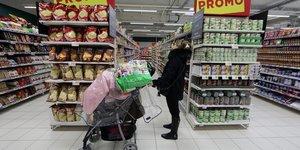 supermarché, alimentation, courses, Français, consommateurs, caddie, rayons, magasin, grande distribution, agroalimentaire, nourriture,