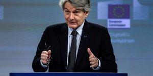 Thierry breton charge d& 39 ameliorer la production de vaccins dans l& 39 ue