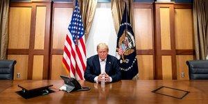 Trump annonce qu& 39 il quittera l& 39 hopital a 22h30 gmt