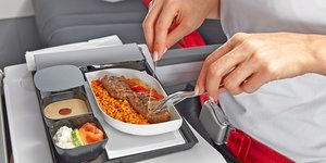 vaisselle plastique jetable, H320, Air France, Repas, Avion,